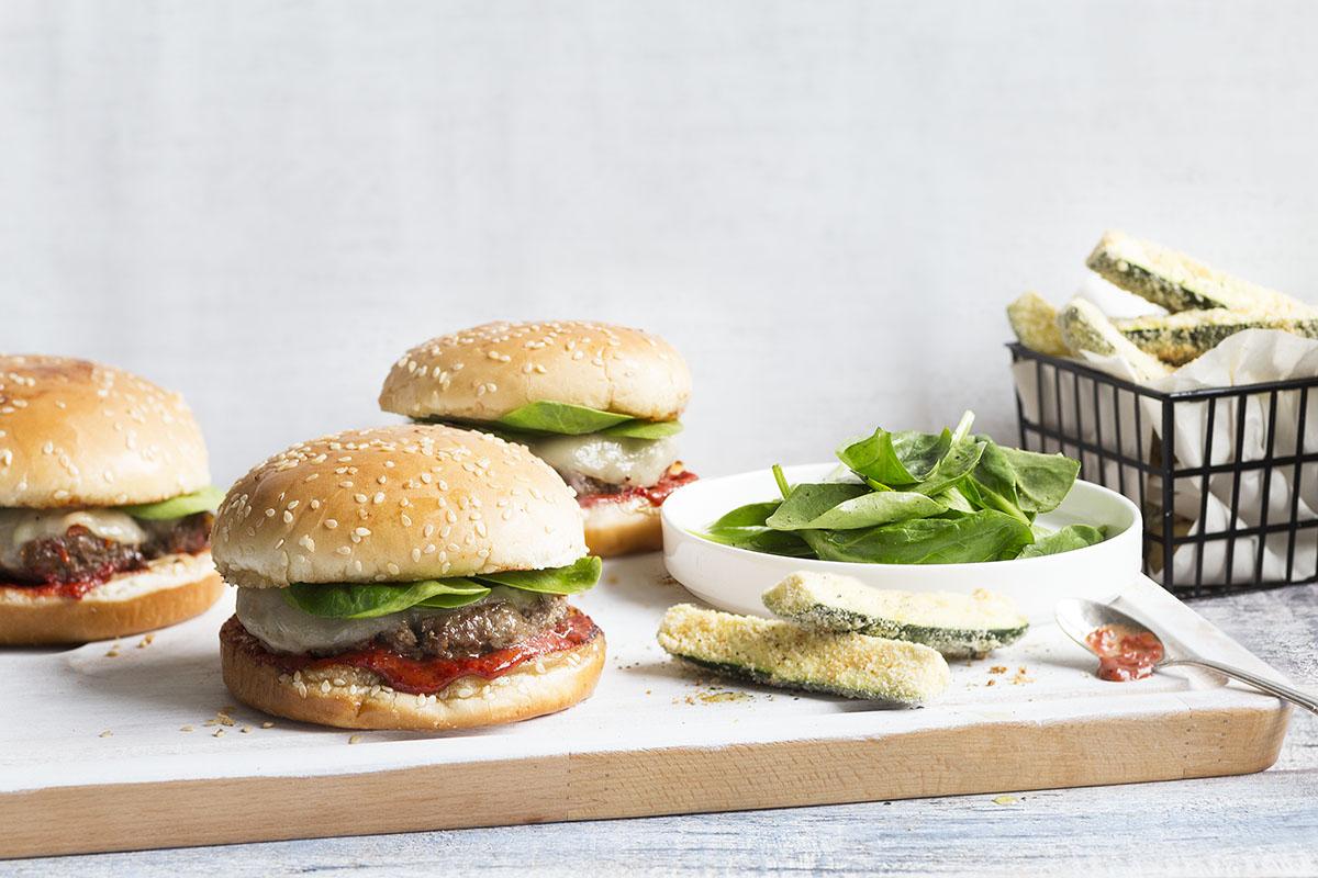 Italian Style Hamburger with Sundried Tomatoes