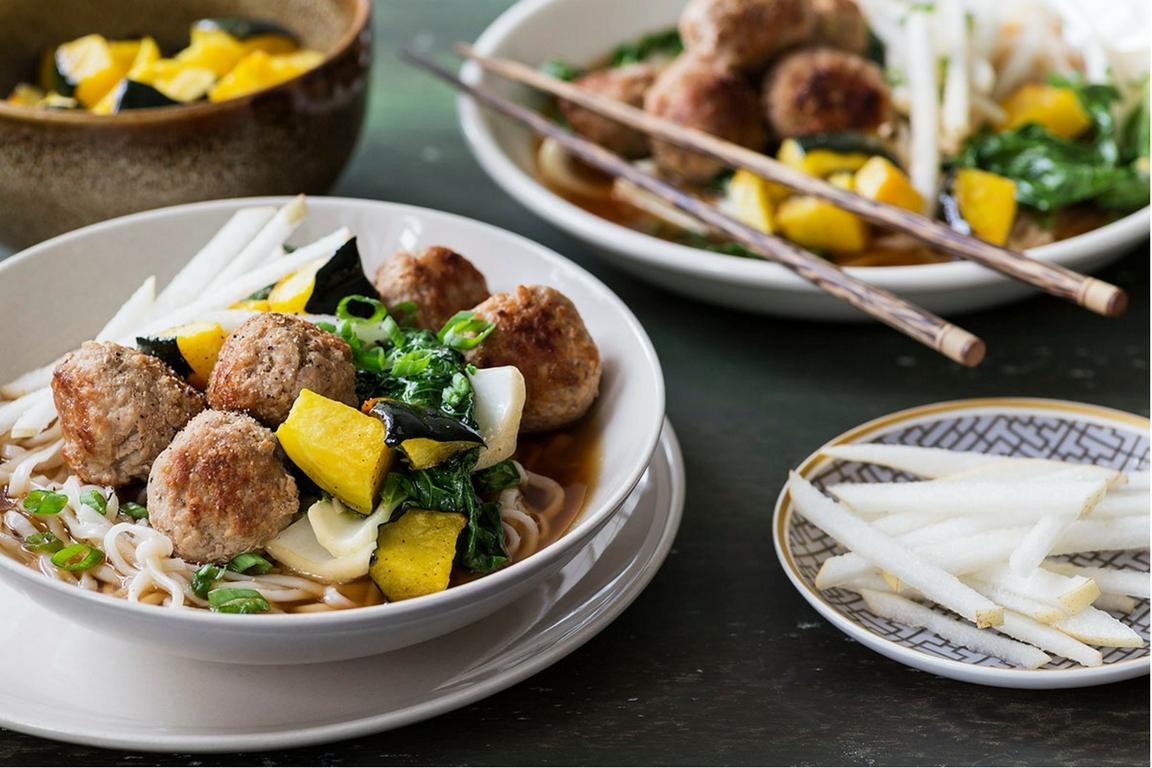 Pork Meatballs & Miso with Fresh Noodles