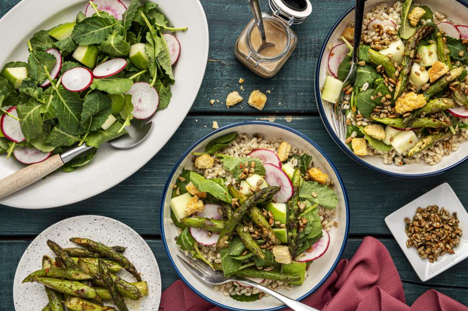 Asparagus, Apple & Barley Bowls
