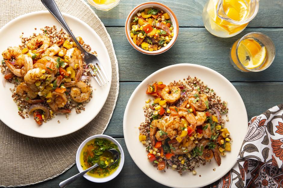 Smoky Shrimp over Quinoa