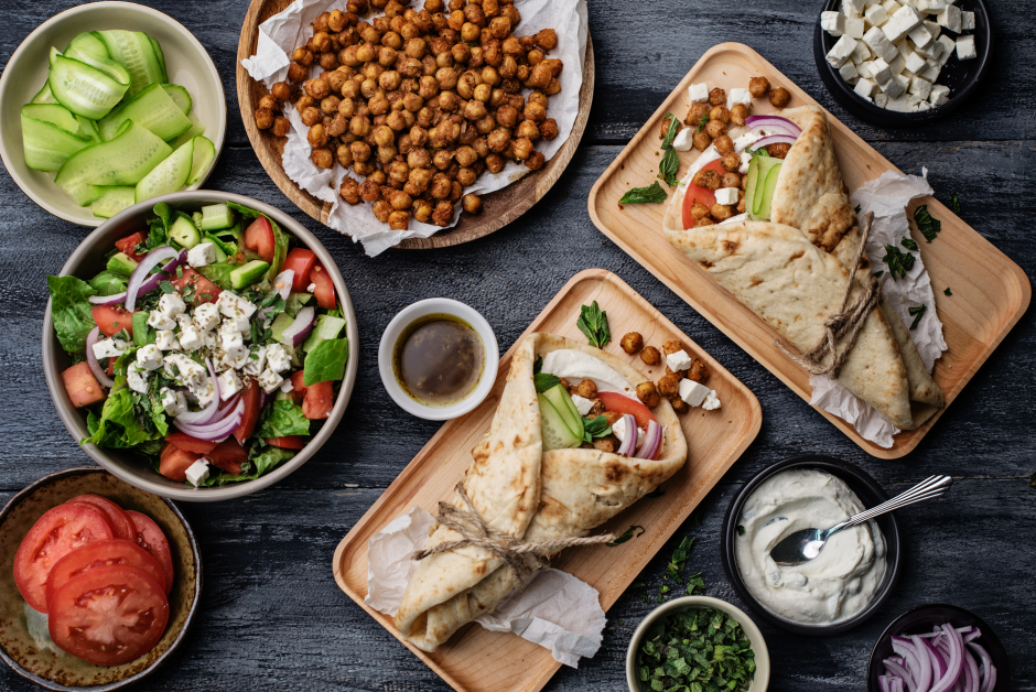 Spiced Chickpea Gyro with Tzatziki