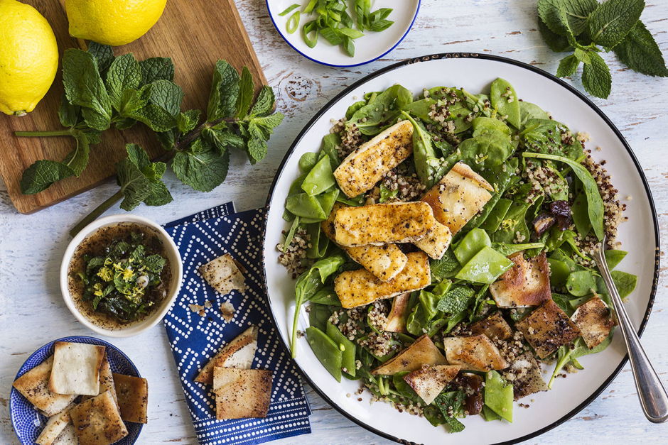 Seared Halloumi Fattoush Salad
