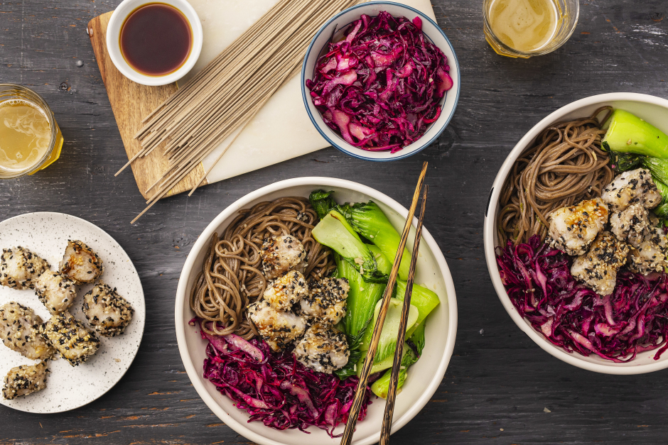 Teriyaki Cod Bowl with Soba Noodles