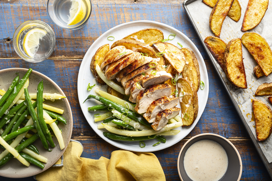 Smoky Spiced Chicken Breasts with Alabama-Style BBQ Sauce