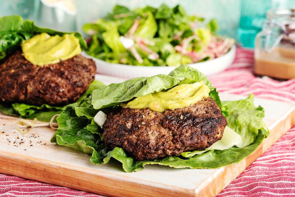 Feta Stuffed Beef Burgers