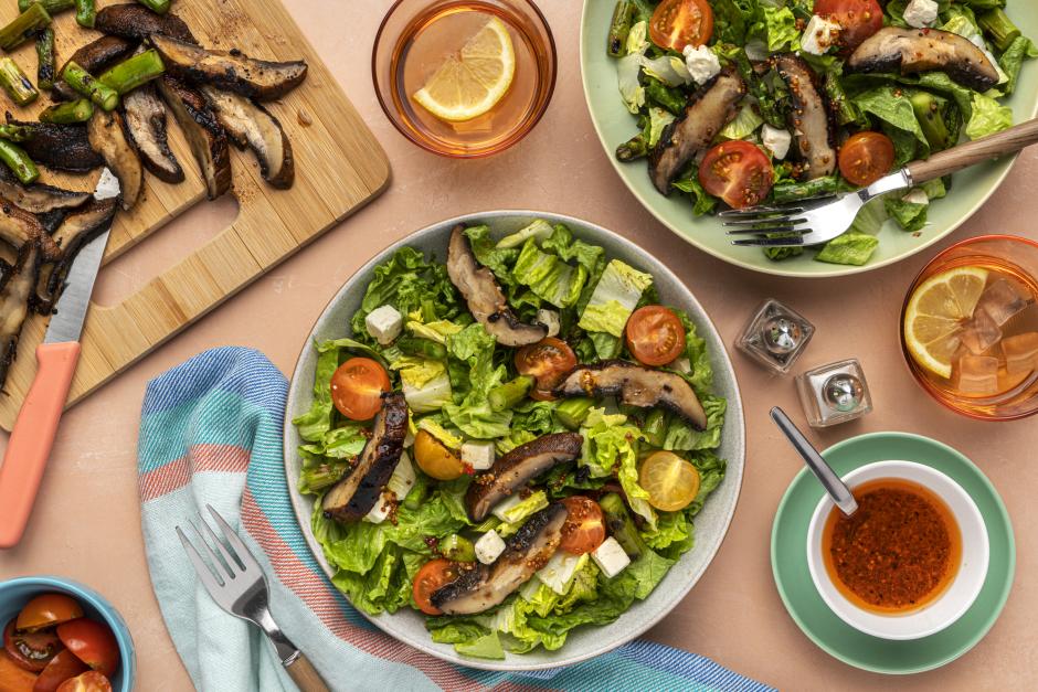 Grilled Portobello & Asparagus Salad