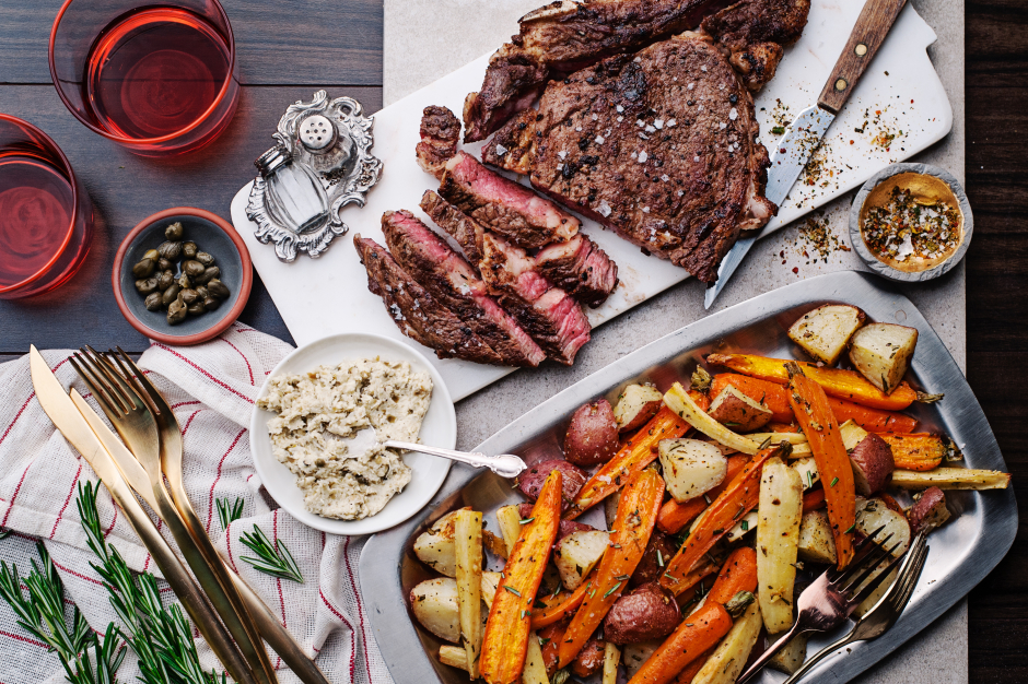 AAA Bone-In Rib Steak for Two with Horseradish-Caper Butter