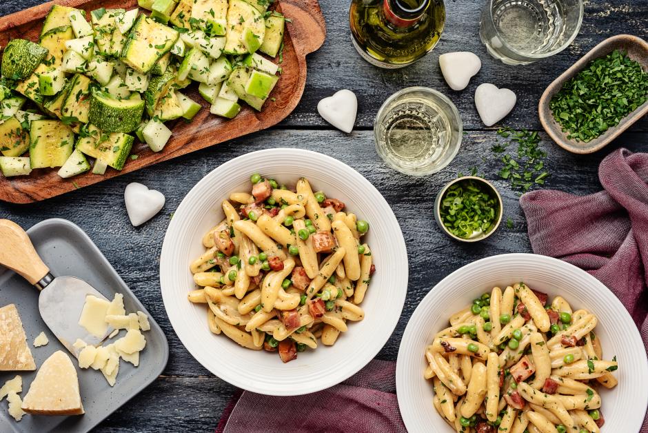 Cavatelli Alla Carbonara with Crisped Pancetta