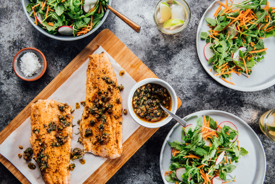 Spiced Seared Trout