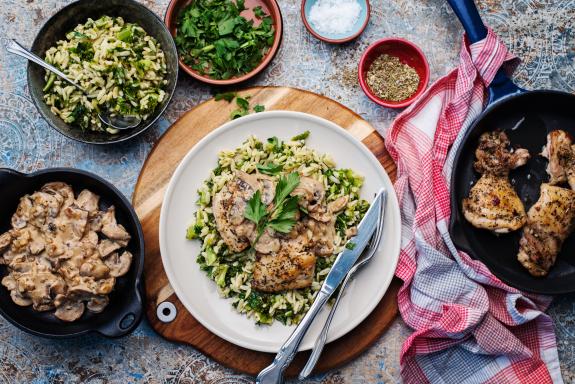 Creamy 'Marsala' Mushroom Chicken Thighs