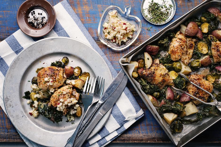 Poulet érable-Dijon cuit au four