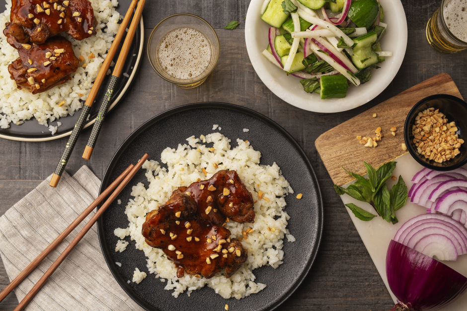 One-Pan Asian-Style Sticky Chicken