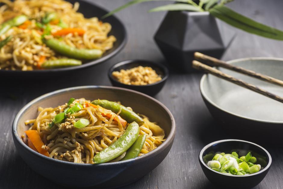 Vegetarian Shanghai Noodle Stir-Fry