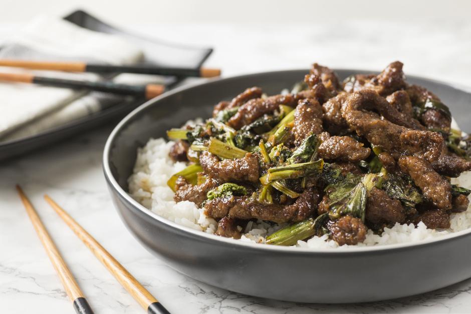 Mongolian Beef & Yu Choy Stir-Fry