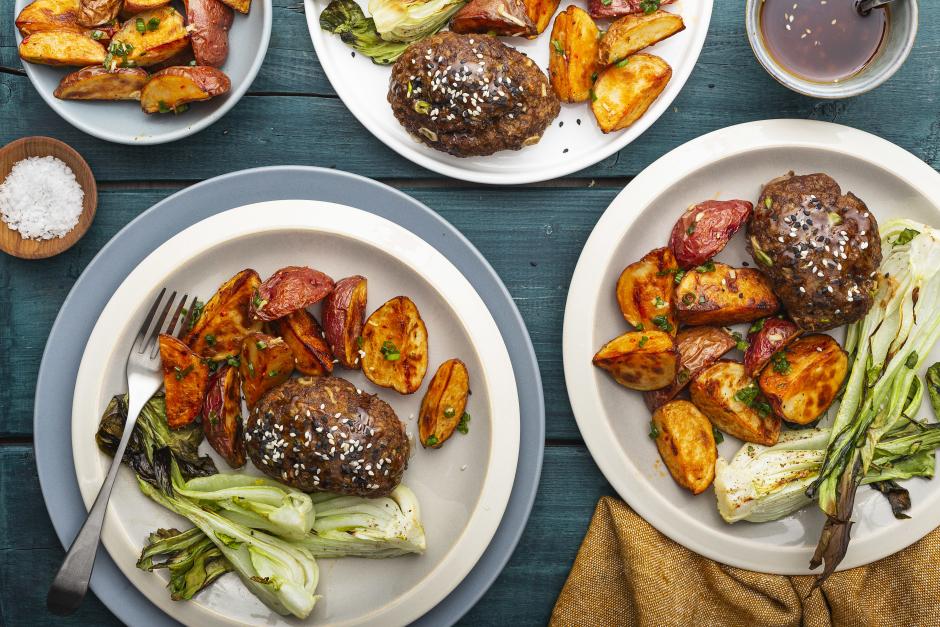 Honey-Sesame Glazed Beef Mini Meatloaves