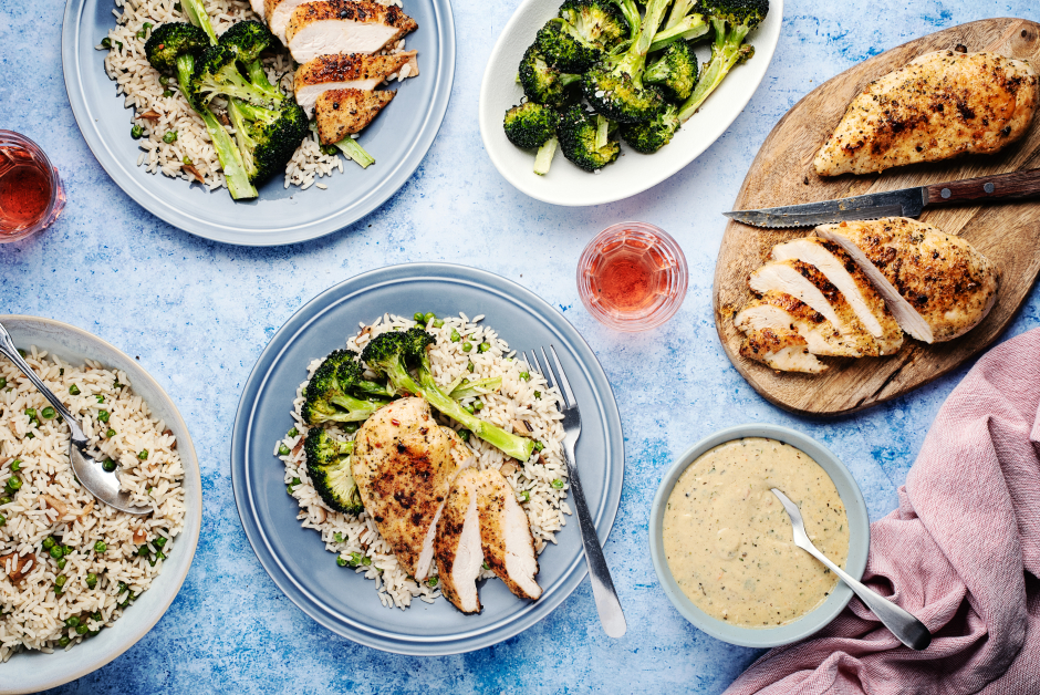 Pan-Seared Chicken Breasts with Tarragon Cream Sauce