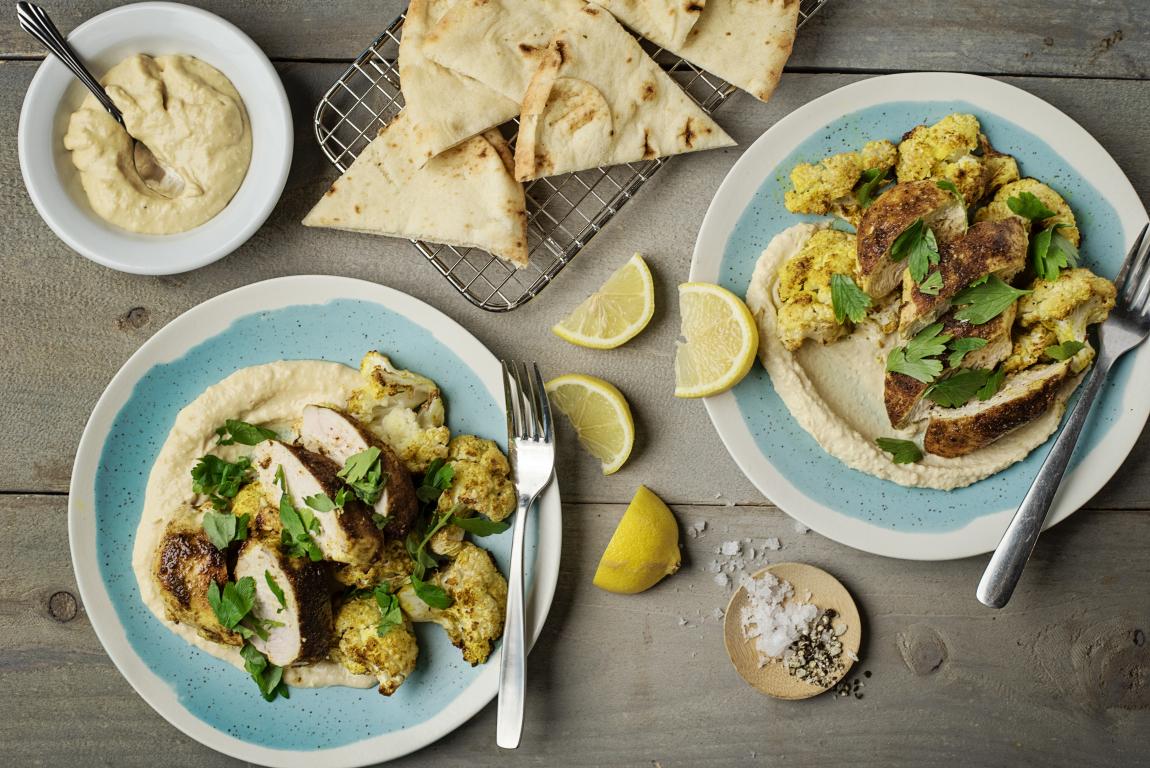 Ras El Hanout Chicken Breasts with Spiced Cauliflower