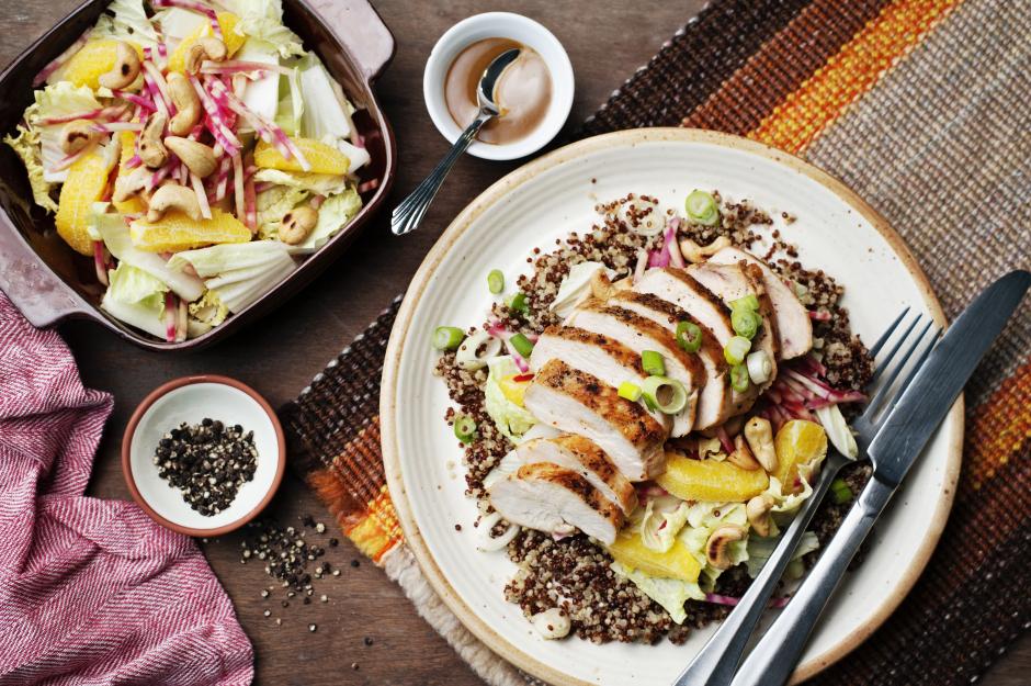 Almond-Orange Chicken & Quinoa Bowls