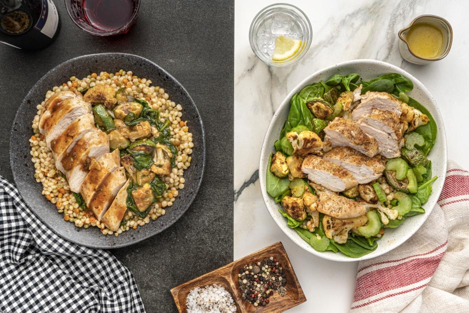 Dinner + Lunch Combo: Tomato-Caper Chicken Breasts