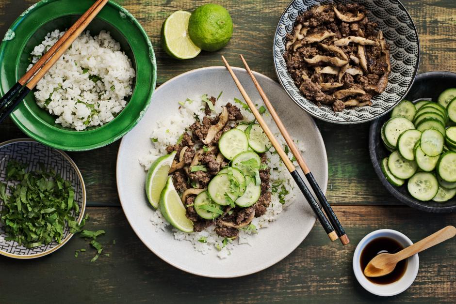 Lemongrass Beef with Shiitake Mushrooms