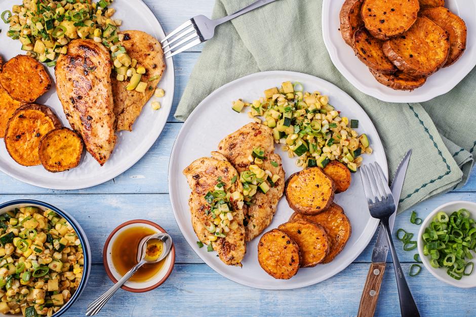 Chicken Paillard with Zucchini-Corn Salsa