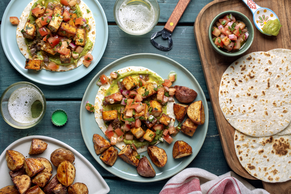 Spiced Tofu Tacos with Avocado