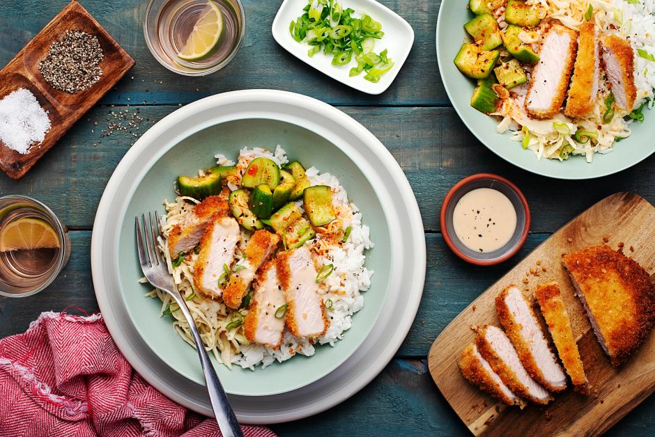 Fried Pork Katsu Bowls