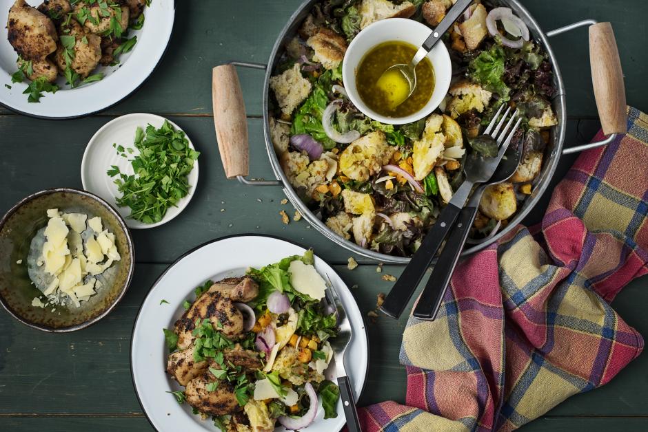Chicken & Butternut Squash Panzanella Salad