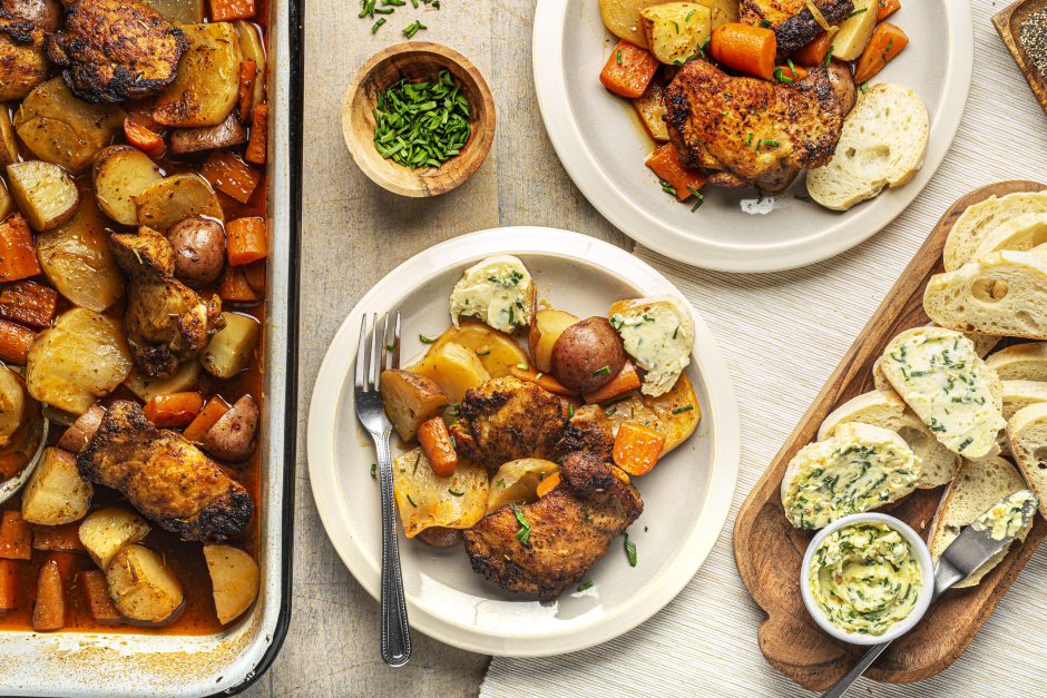 Braised Chicken Thighs & Root Vegetables