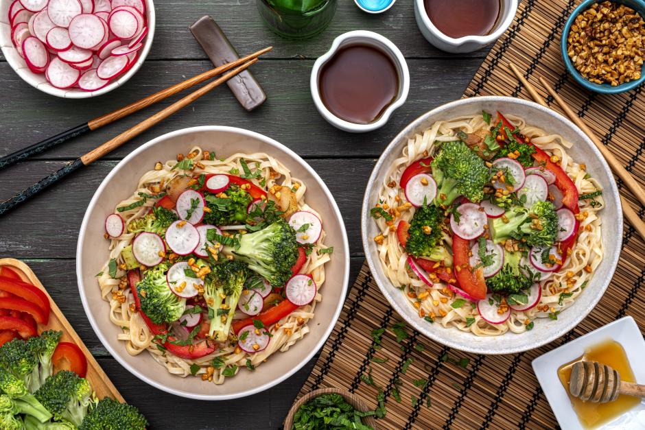 Cool Sesame-Citrus Rice Noodles