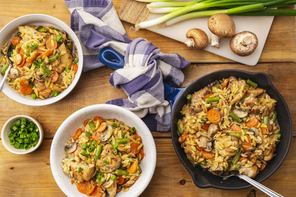 One-Pan 'Chicken Pot Pie' Orzo