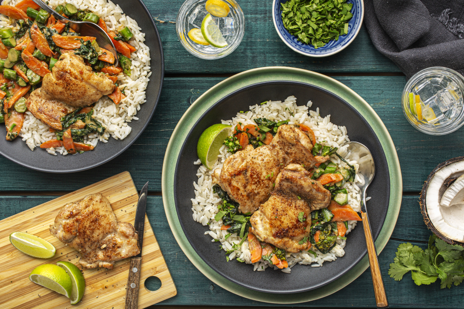 Ginger-Spiced Chicken over Coconut Rice