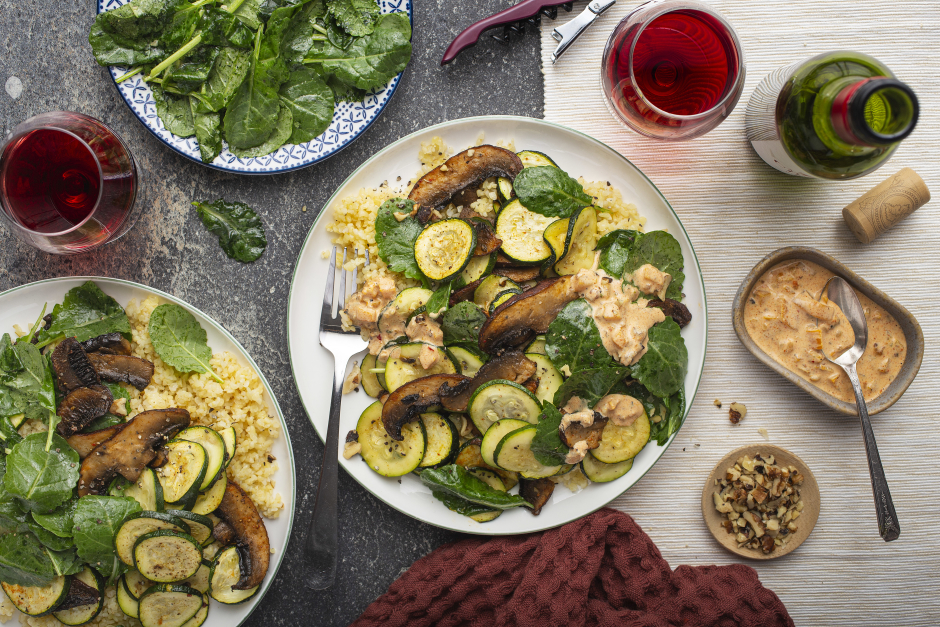 Roasted Portobello & Zucchini