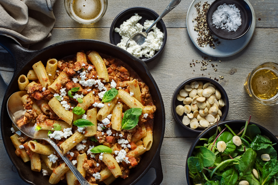 Fresh Rigatoni with Ground Pork Ragu