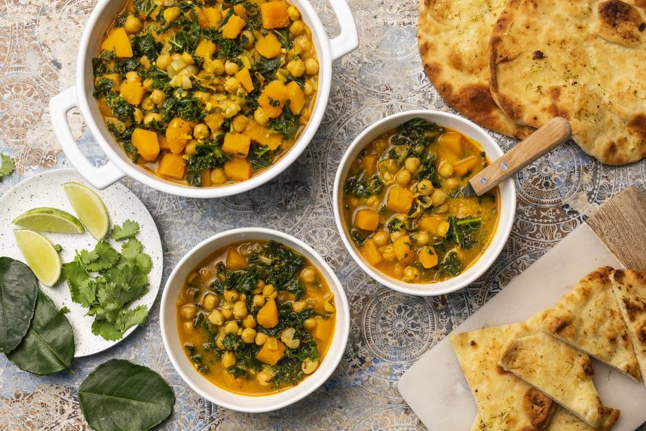 Butternut Squash, Kale & Chickpea Curry