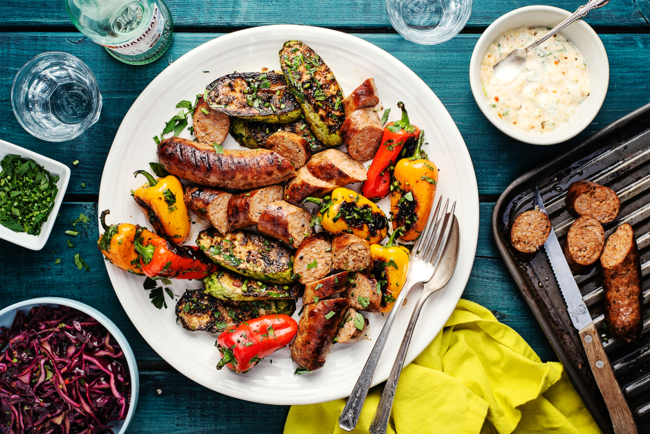 Pork Sausage & Vegetable Mixed Grill