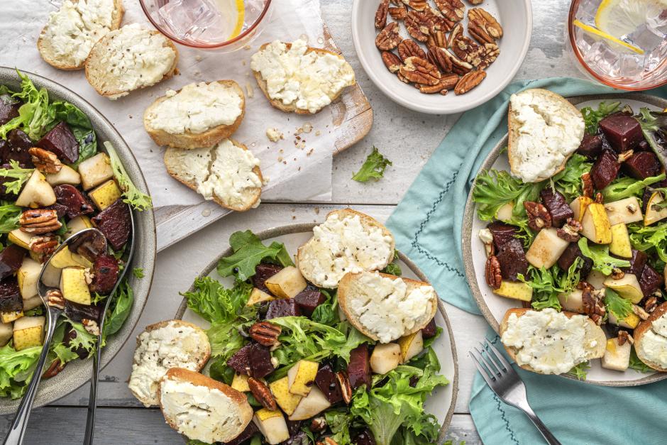 Warm Beet, Pear & Pecan Salad