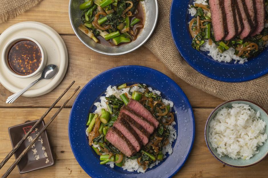 Mongolian-Style Steak