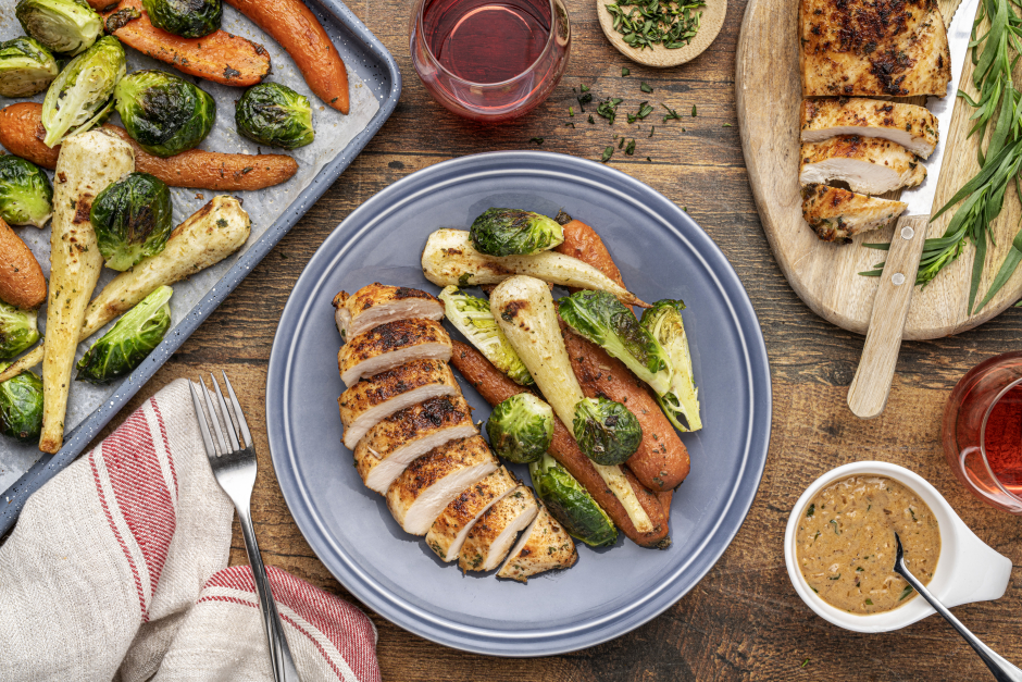 Seared Chicken Breasts with Creamy Tarragon Sauce