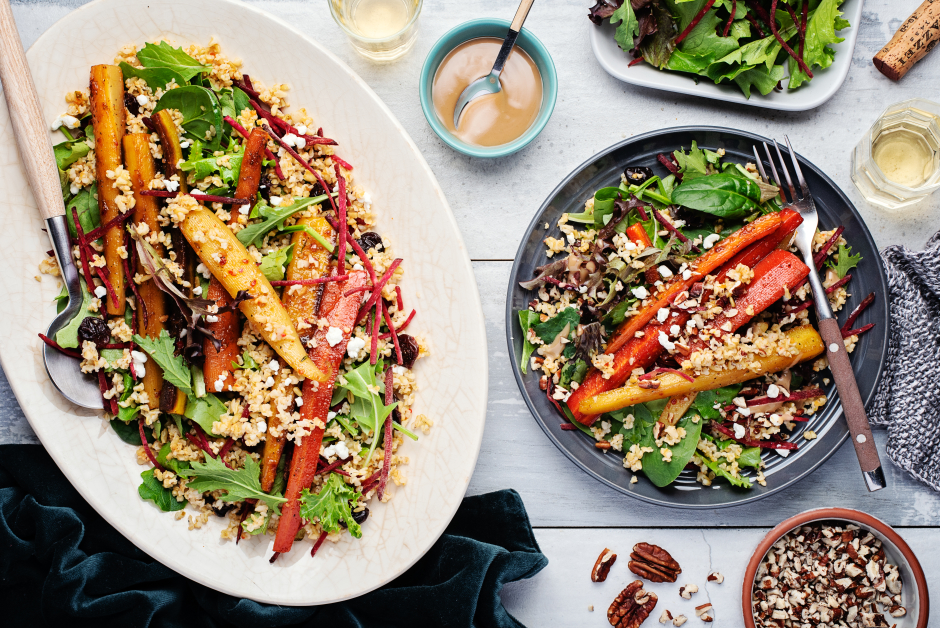 Thyme & Honey Carrot Freekeh Bowls