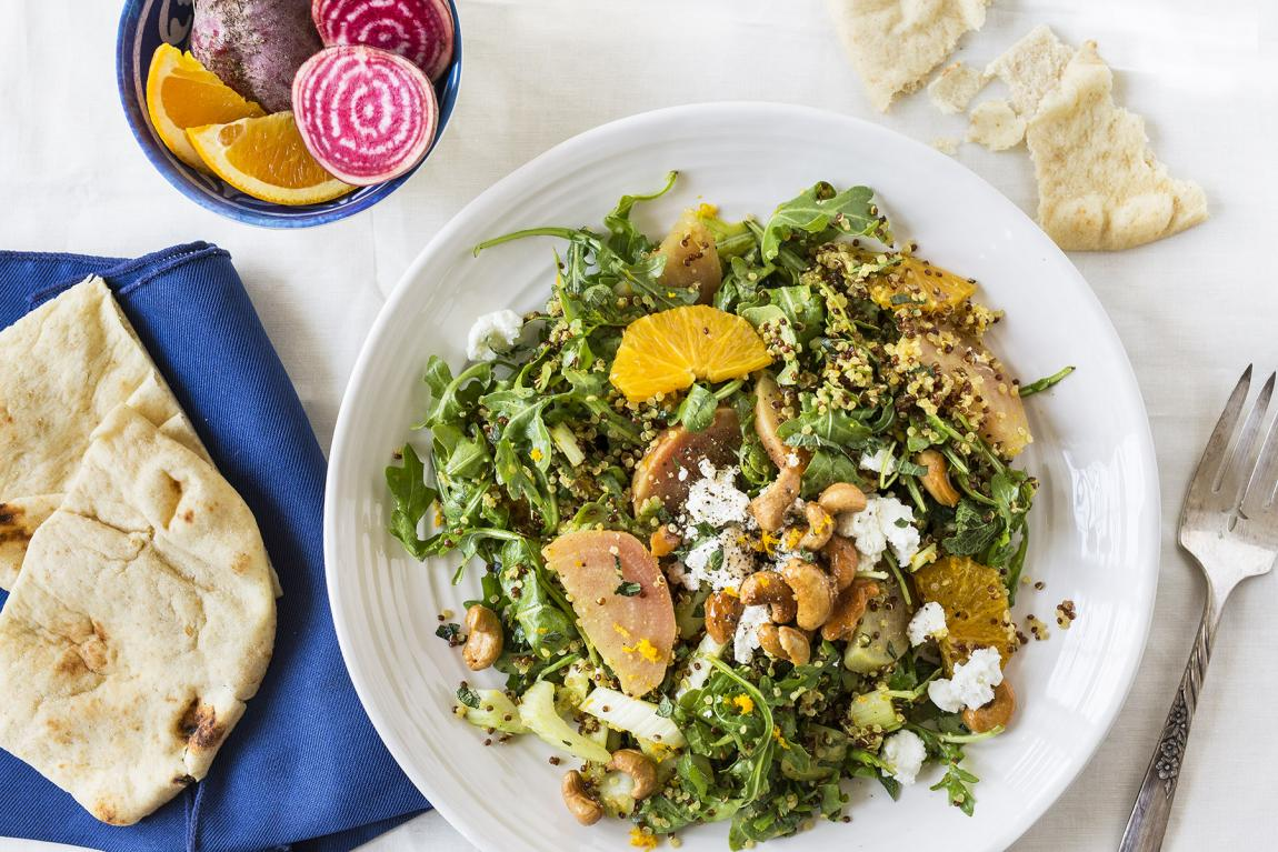 Beet, Goat Cheese and Quinoa Salad
