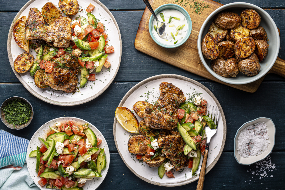 Greek-Style Chicken with Charred Lemon