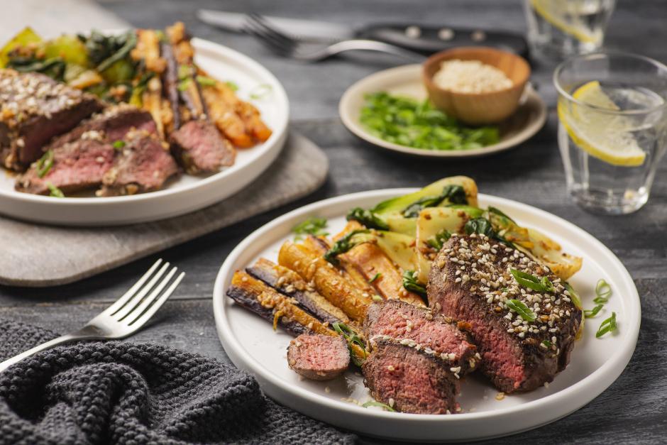 Sesame Sirloin Steaks