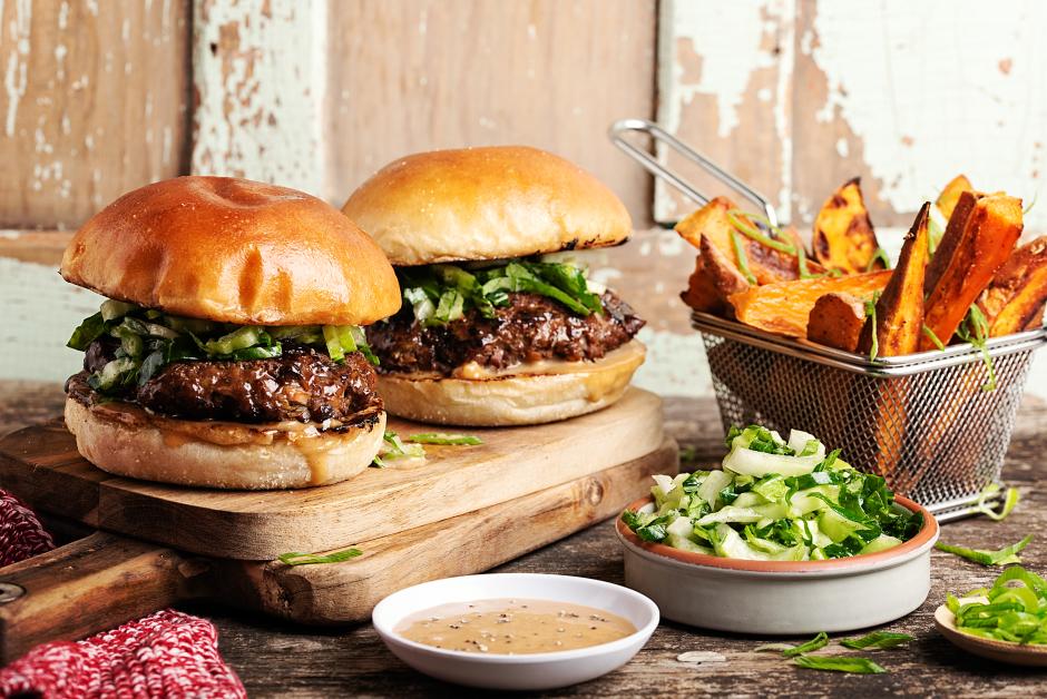 Beef & Shiitake Burgers