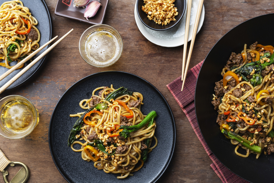Indonesian-Style Ground Beef & Noodles