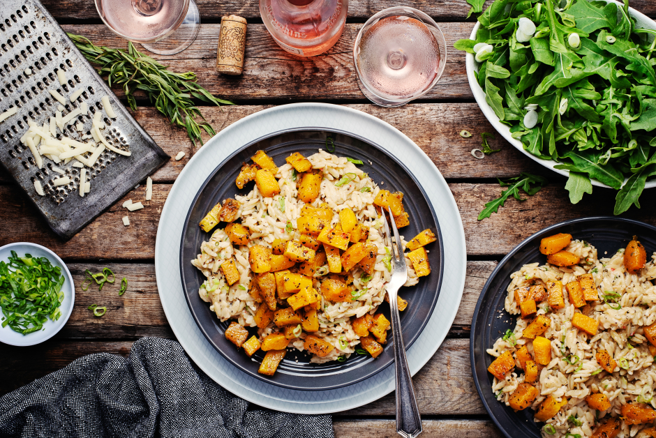 Cheddar, Scallion & Roasted Squash Orzotto