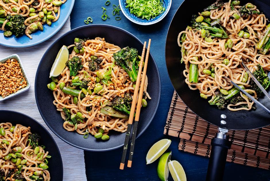 Garlic-Sesame Ramen Noodles