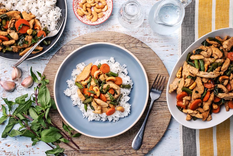 Thai Basil & Cashew Chicken Stir-Fry