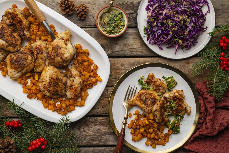 Mexican-Spiced Chicken with Pepita Gremolata
