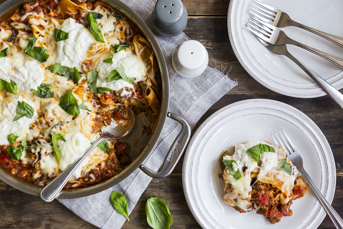 Ground Beef Skillet Lasagna